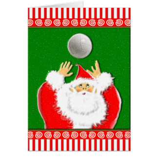 Volleyball Christmas Greetings Greeting Card