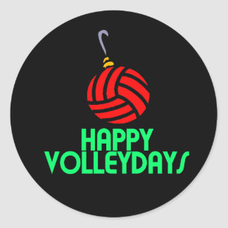 Volleyball Christmas Happy Volleydays Ornament Stickers