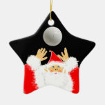 volleyball christmas Double-Sided star ceramic christmas ornament