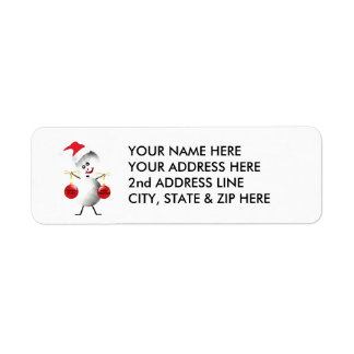 Volleyball Christmas Return Address Label