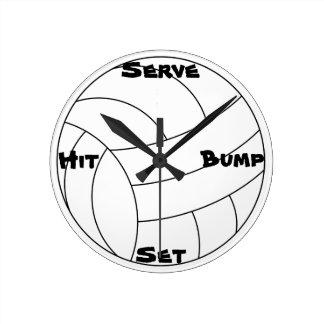 Volleyball Round Clock
