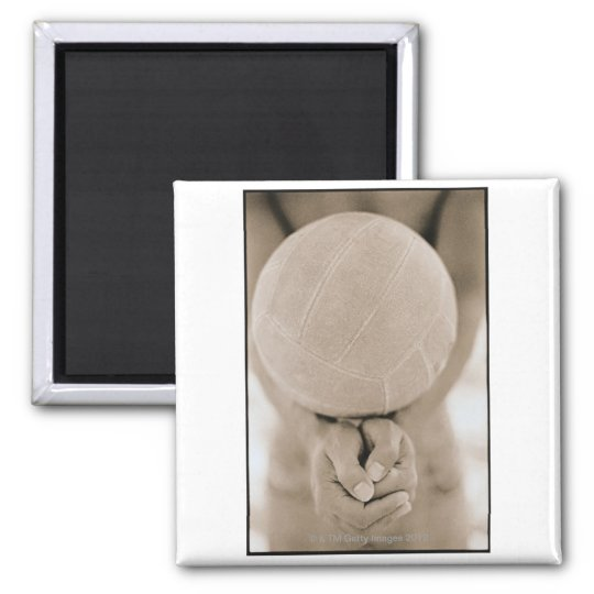 Volleyball Close-Up 2 Inch Square Magnet