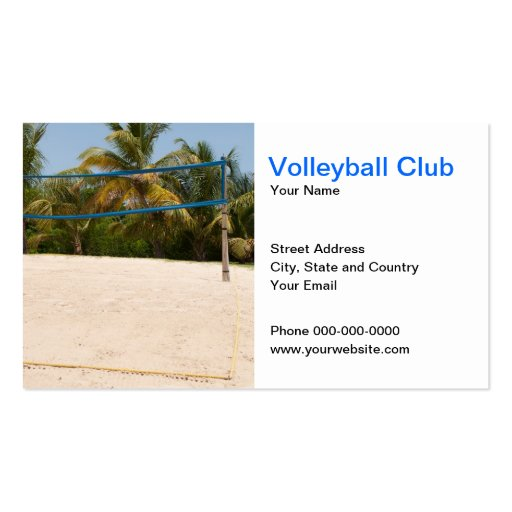 Volleyball Club Business Card