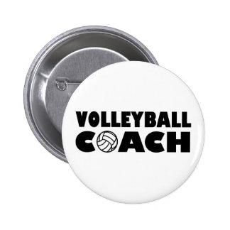 Volleyball coach 2 inch round button