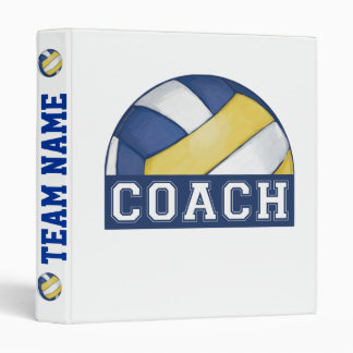 Volleyball Coach 3 Ring Binder
