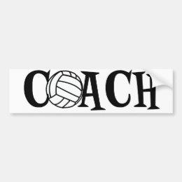 Volleyball Coach Bumper Sticker