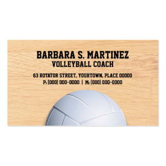 Volleyball Coach Business Card Templates