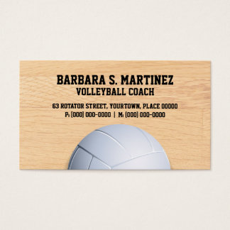 Volleyball Coach Business Card