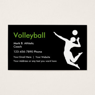 Team business cards templates zazzle volleyball coach business cards colourmoves