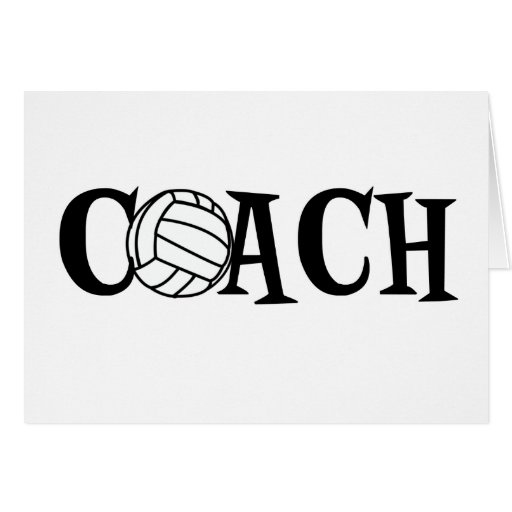 Volleyball Coach Greeting Cards