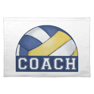 Volleyball Coach Cloth Placemat