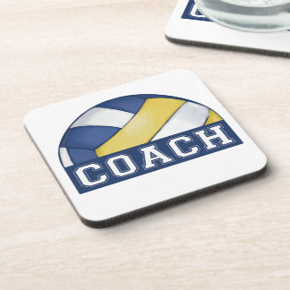 Volleyball Coach Drink Coaster