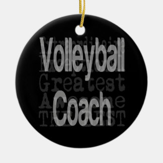 Volleyball Coach Extraordinaire Ceramic Ornament