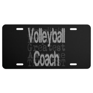 Volleyball Coach Extraordinaire License Plate