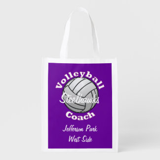 Volleyball Coach Grocery Bag