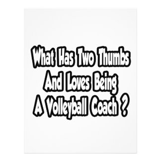 Volleyball Coach Joke...Two Thumbs Flyer