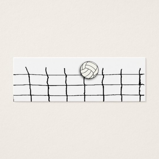 Volleyball coach mini business card