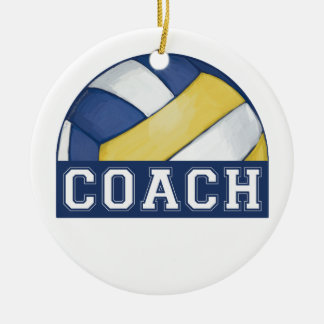 Volleyball Coach Christmas Tree Ornaments