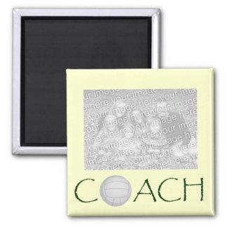VOLLEYBALL Coach photo magnet