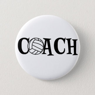 Volleyball Coach Pinback Button
