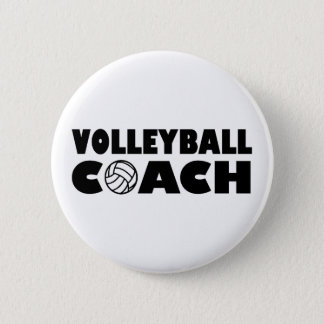 Volleyball coach pinback button