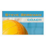 Volleyball Coach Player Business Card Template