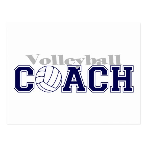Volleyball Coach Postcard