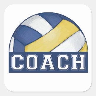 Volleyball Coach Square Sticker