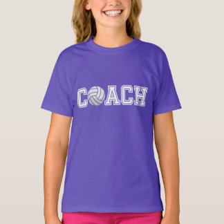 Volleyball Coach Typography Graphic Girl's T-shirt