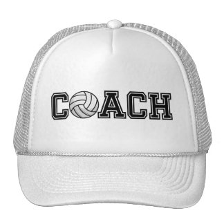 Volleyball Coach Typography Graphic Trucker Hat