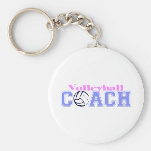 Volleyball Coach (Version B) Keychains