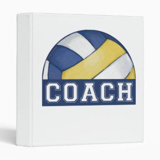 Volleyball Coach Vinyl Binder