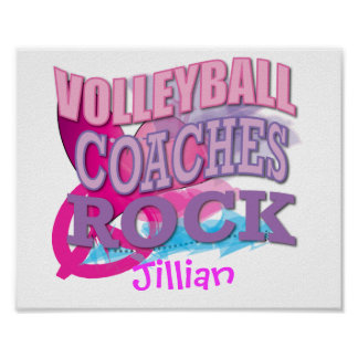 VOLLEYBALL Coaches Gifts Posters