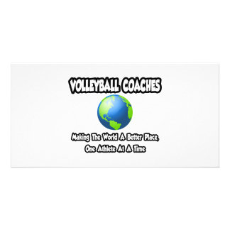 Volleyball Coaches...Making World a Better Place Photo Card Template