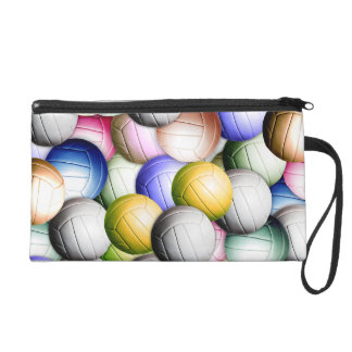 Volleyball Collage Wristlet