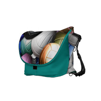 Volleyball Collage Messenger Bags