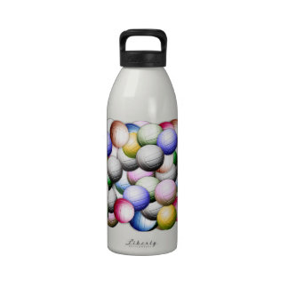 Volleyball Collage Reusable Water Bottle