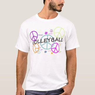 Volleyball Colored Peace Signs T-Shirt