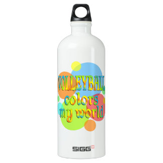 Volleyball Colors My World Aluminum Water Bottle