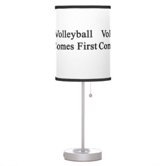 Volleyball Comes First Table Lamps