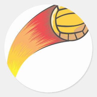 Volleyball Comet Classic Round Sticker