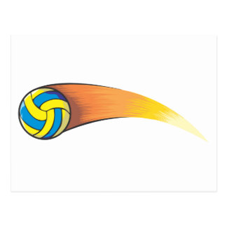 Volleyball Comet Postcard