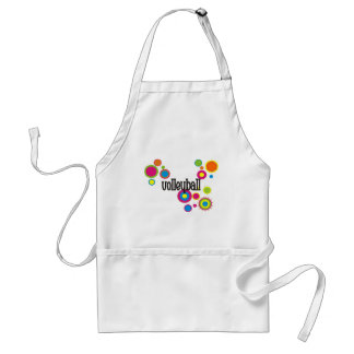 Volleyball Cool Polka Dots Adult Apron