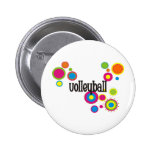 Volleyball Cool Polka Dots Pinback Button