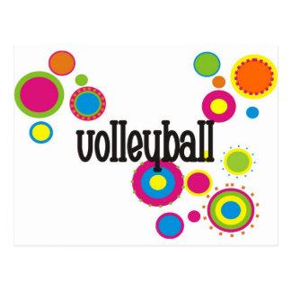 Volleyball Cool Polka Dots Postcard