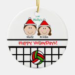 VolleyBall Couple 1st Personalize Ornament