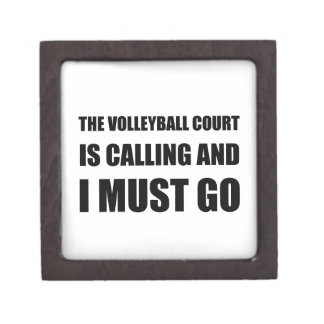 Volleyball Court Calling Must Go Keepsake Box