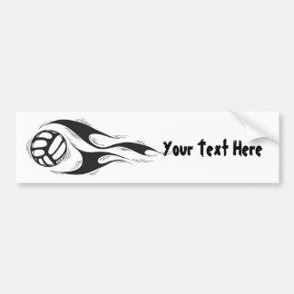 Volleyball (customizable) car bumper sticker