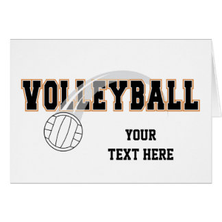 Volleyball (customizable) card