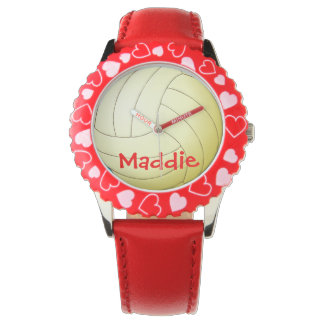Volleyball Customized Name Watch